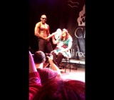 Girls go crazy for big black dick at British strip show