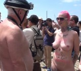 2014 Toronto WNBR - Interviews of naked painted women & men
