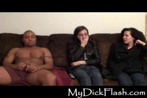 Ruth & friend watch Mike jerking off in front of them
