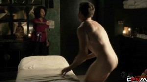 Embarrassing CFNM scenes with two massage therapists