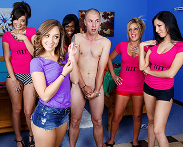 Stripped naked & exposed by sorority girls CFNM