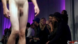 Nude fashion show with fantastic male nudity reactions