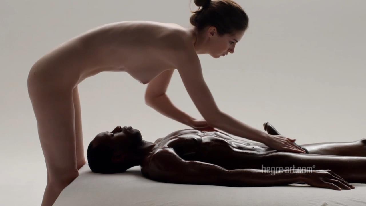 action women massaging penis