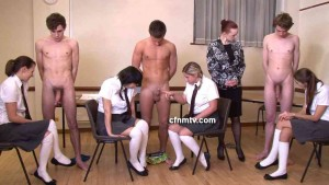 CFNM TV 01 - Group handjobs