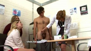 CFNM.net 02 - Group penis examination handjob