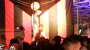 Sensual stripper strips guy nude at erotic stage show in Barcelona9a