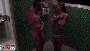 Hungarian reality TV CFNM - Couple showers & mutually masturbates6