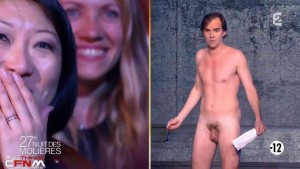Naked man on live television exposes himself to French women7