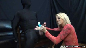 HDCFNM - Tiny amateur blonde jacks off well hung dude in morphsuit4