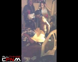 Black Male Stripper home party - Girls go crazy over naked Bad Boy Flames antics3