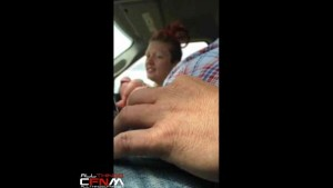 Car ride CFNM masturbation with female hitcher ends with hand job2
