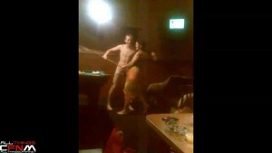 Sauna CFNM with two nude guys & two female Russian teens5