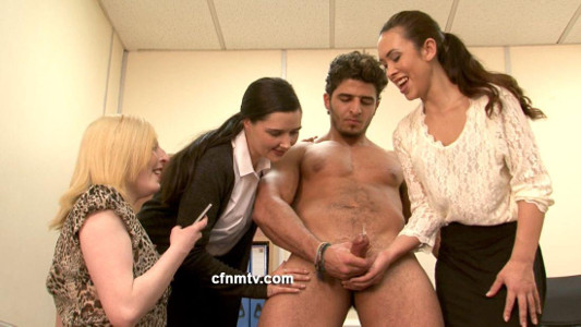 CFNM TV Ejaculation For Three