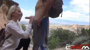 Hot girlfriend delivers a risky public hiking trail blowjob.mp4_snapshot_00.36