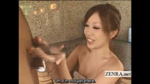 Subtitled Japanese sexy penis washer soaps up client cock.mp4_snapshot_00.08
