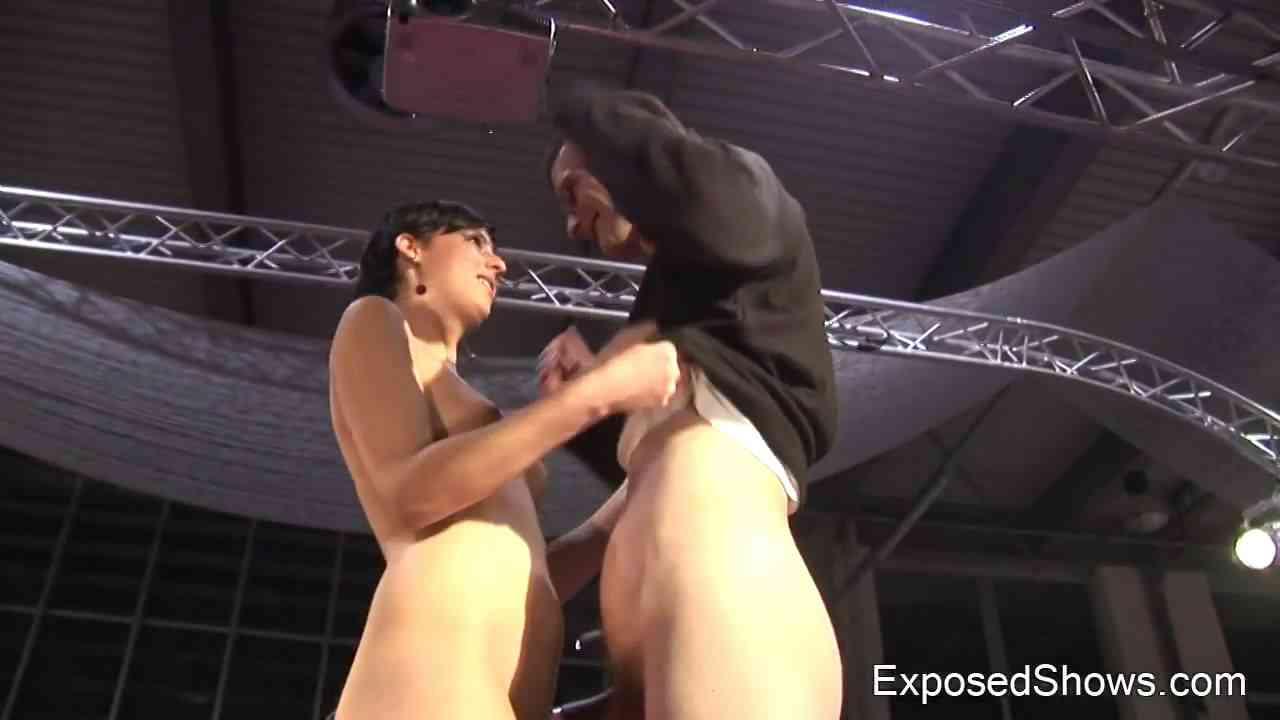 women stripping in front of men