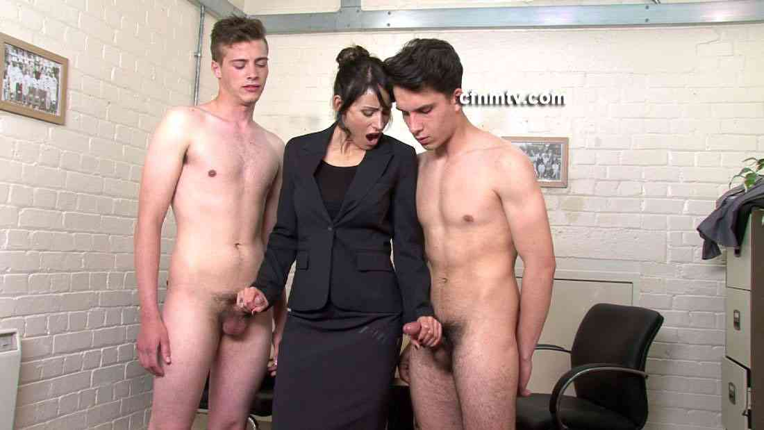 European sluts wank to their naked bofyriends in a cfnm orgy, free porn